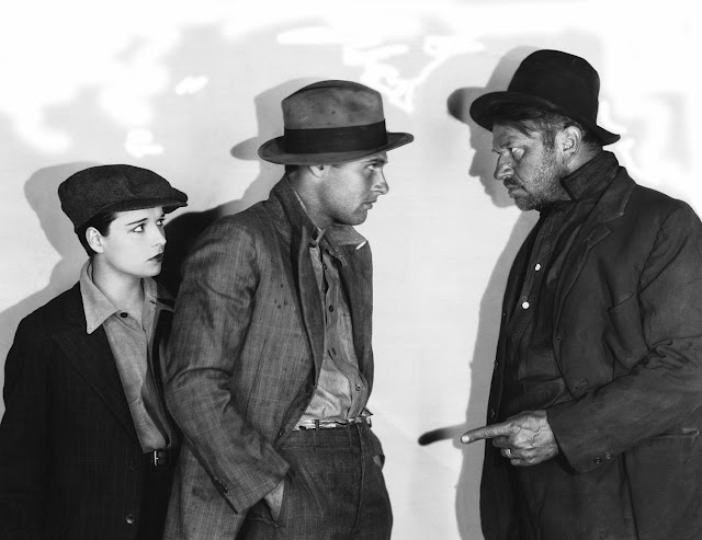 Louise Brooks, Richard Arlen and Wallace Beery in Beggars of Life (1928)