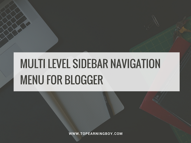 Multi level sidebar navigation menu