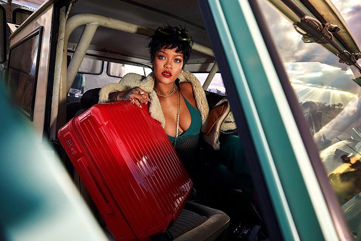 Rihanna stars in Rimowa Never Still 2021 campaign.