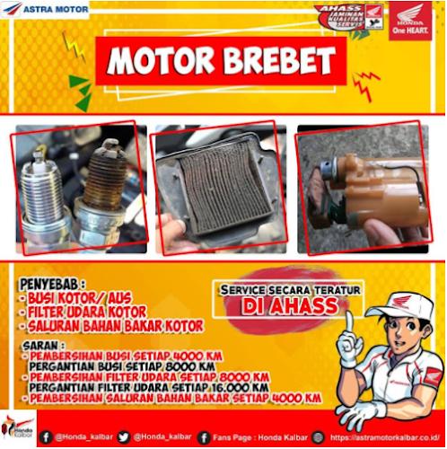 Honda Kalbar Memberikan Rekomendasi Motor Brebet