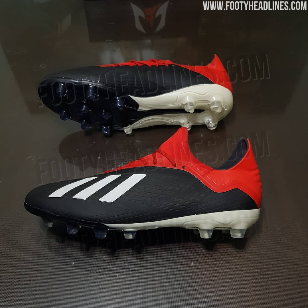 competitive price ac682 df603 The Adidas X 18 will be launched in a classy black, red and white paint job  towards the end of this year as part of the Initiator collection.