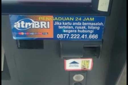 Jika Menemukan Nomor Pengaduan Palsu di Mesin ATM BRI
