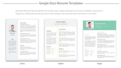contoh CV dan resume menggunakan google doc - kanalmu