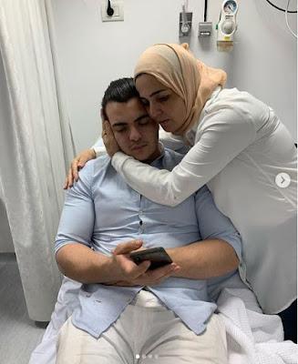 منى عبد الغني تنشر صورا مع نجلها بعد نجاته من حادث سير