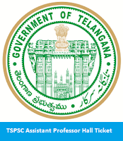 TSPSC Assistant Professor Hall Ticket