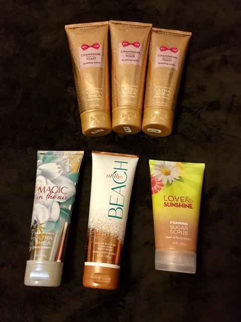 Bath and Body Works lotions