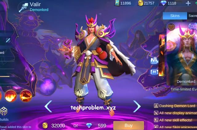 Skin Collector Valir Demonlord Gratis Mobile Legends