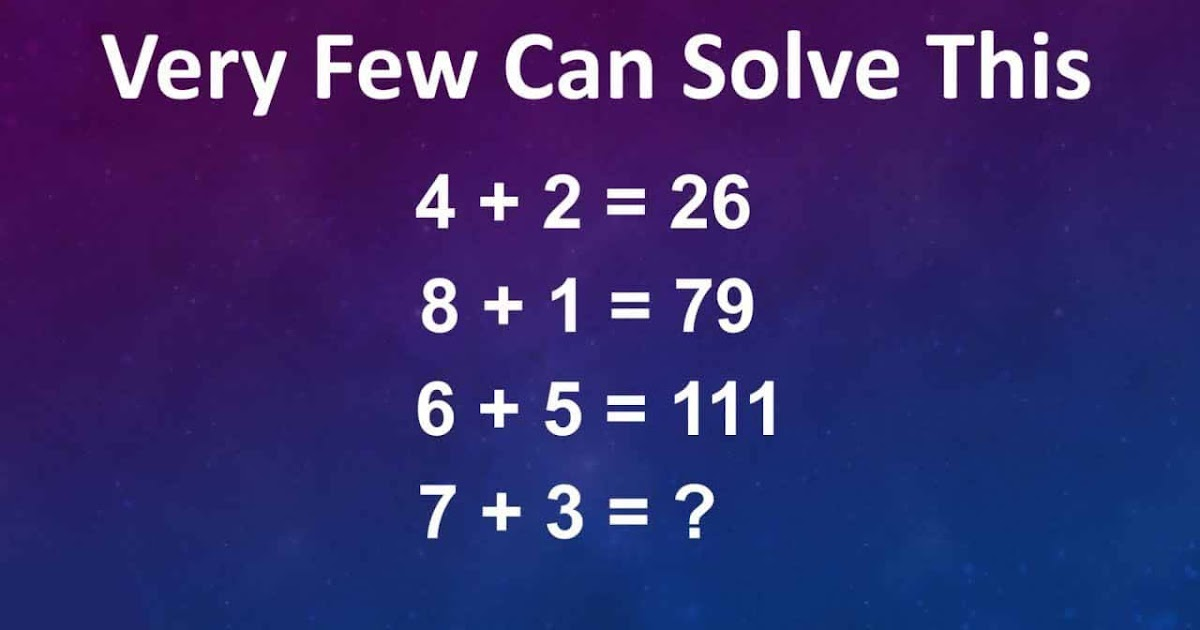 """""""Very Few Can Solve This Challenge Problem"""" The Viral 4+ 2 ..."""