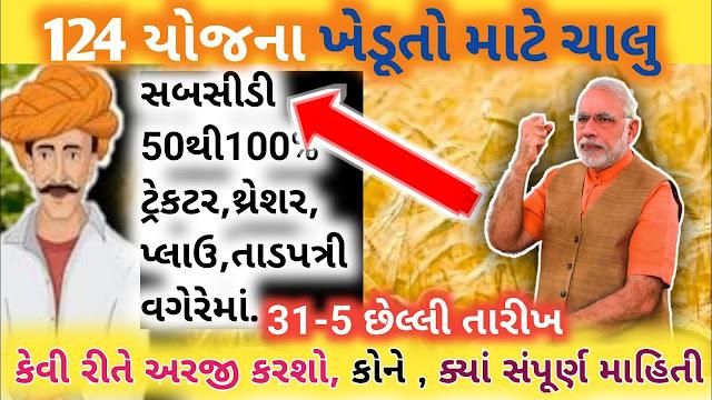 Apply Online For Farmers Various Scheme on Gujarat Ikhedut Online Portal @ikhedut.gujarat.gov.in