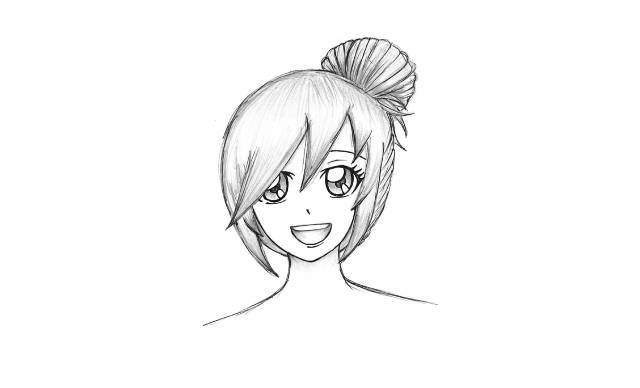 dibujos de chicas kawaii faciles