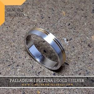 cincin kawin platina single 548