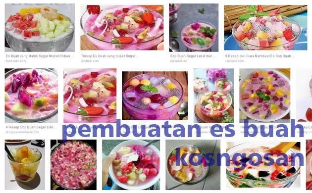laporan pembuatan es buah
