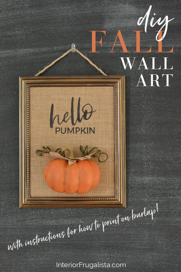 DIY Fall Wall Art