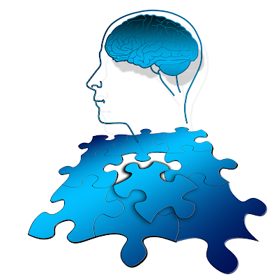 A photo of a brain represented as a puzzle with a puzzle piece missing, part of the lesson on How the Brain Learns Math and Science with the focused and diffuse modes