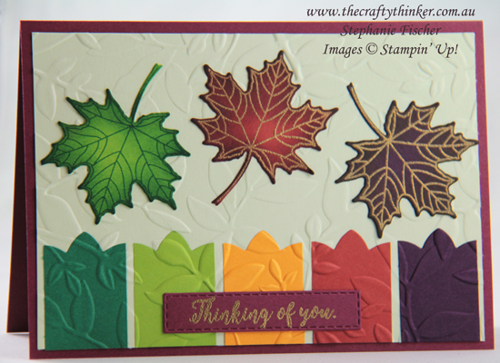 #thecraftythinker  #stampinup  #cardmaking  #masculinecard  #seasonallayers , Seasonal Layers, Layered Leaves, Masculine Card, Stampin' Up Demonstrator, Stephanie Fischer, Sydney NSW
