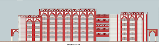 Side Elevation of All India Institute of Unani Medicine Hospital, Ghaziabad by Archkala