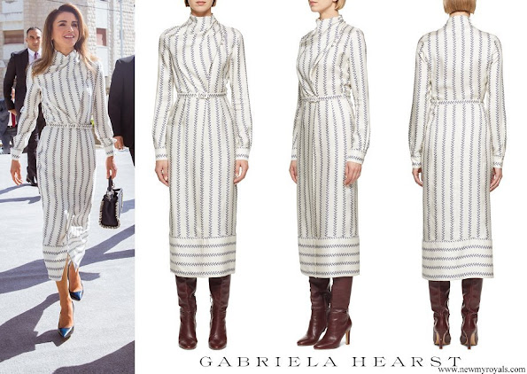 Queen Rania wore Gabriela Hearst josefina dress