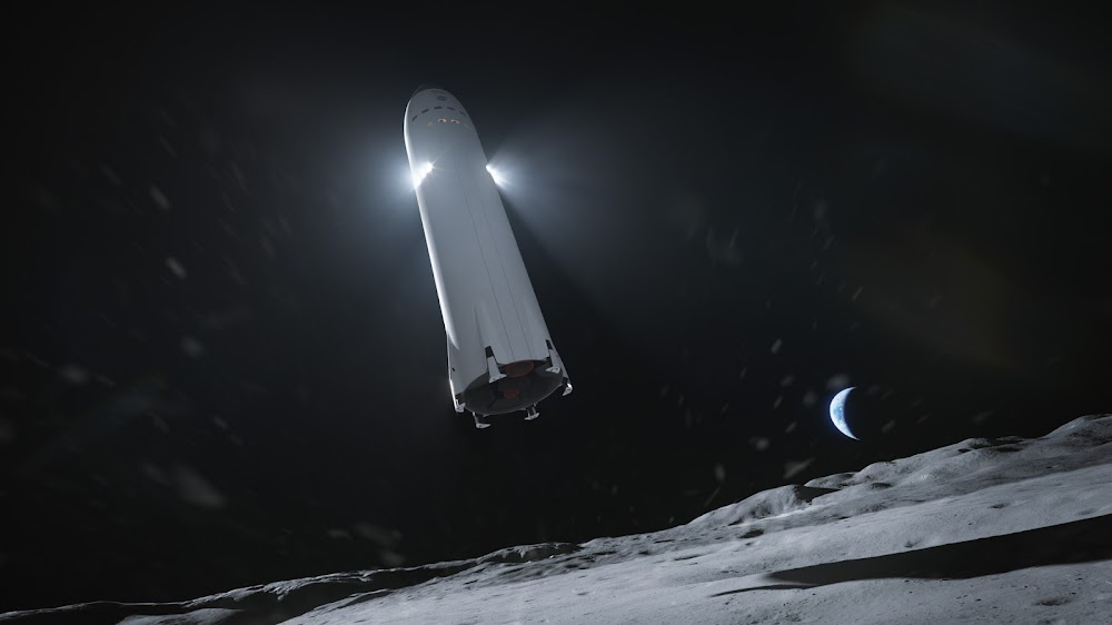 SpaceX lunar optimized Starship landing on the Moon