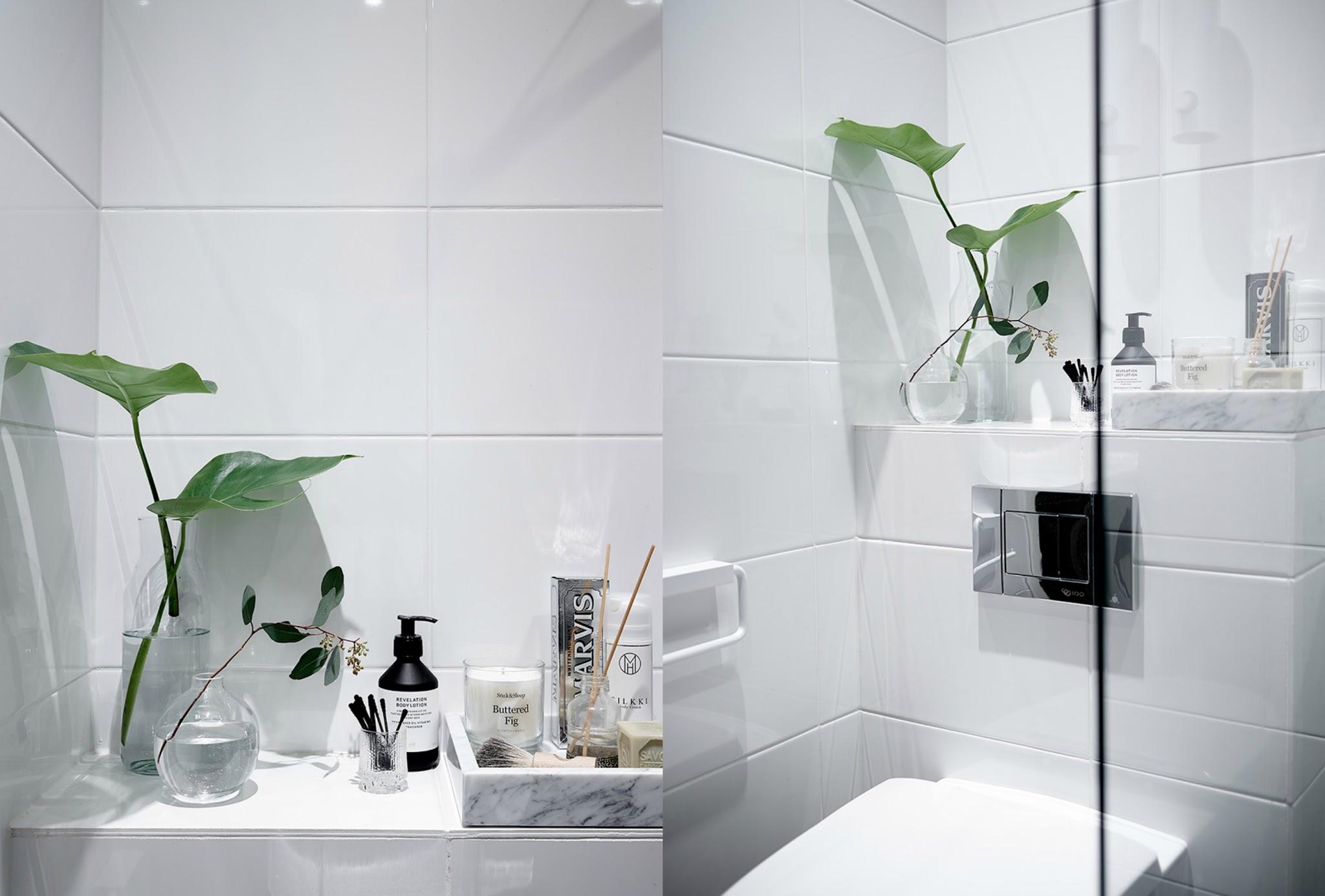 minimalistyczna łazienka z prysznicem