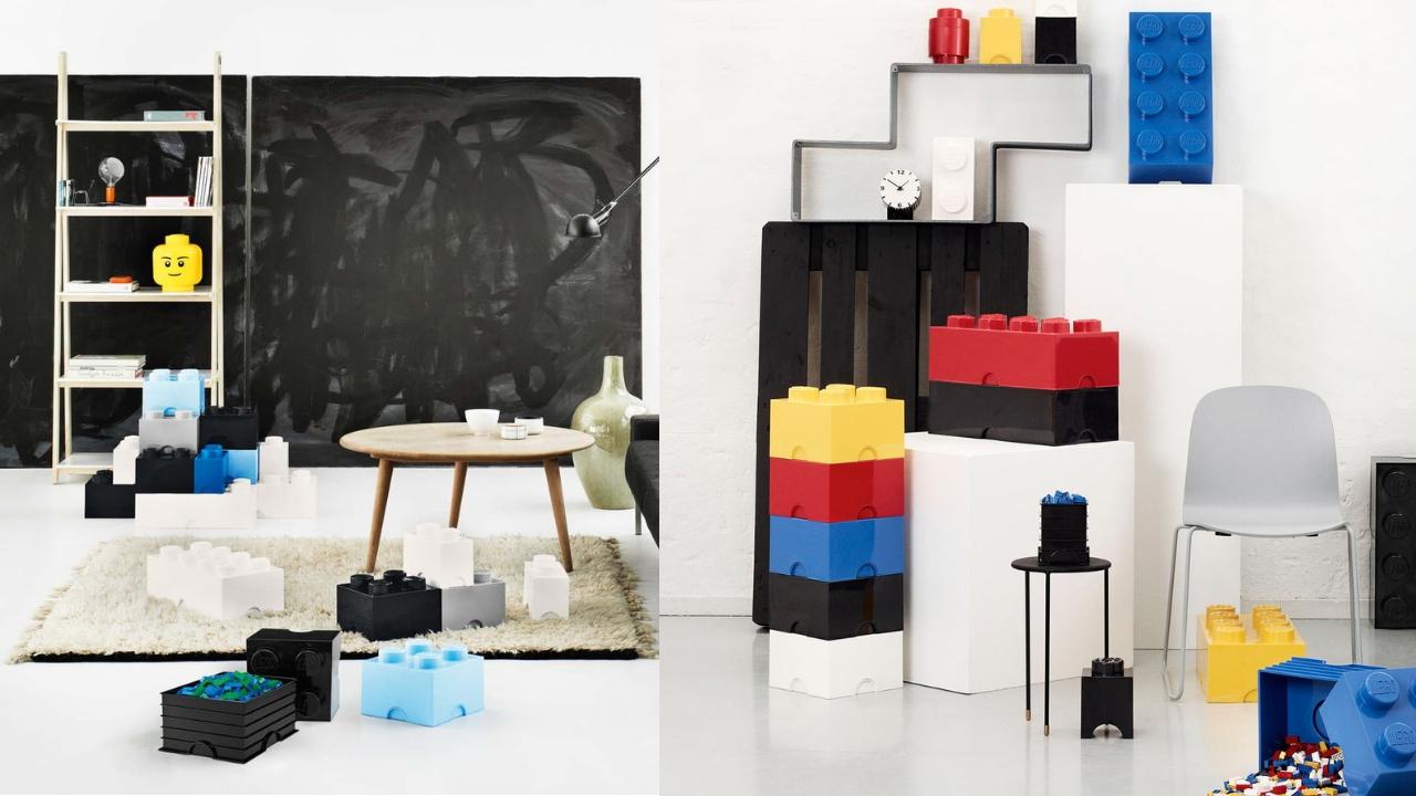 pudełka lego na klocki