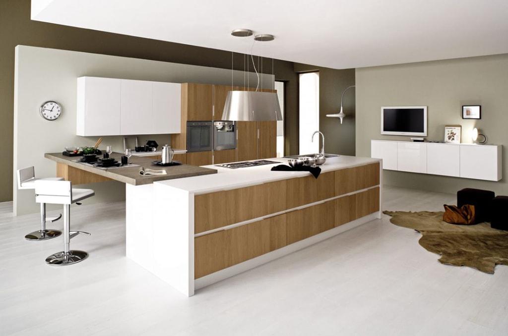 30 ideas de cocinas en blanco y madera I  Cocinas con estilo