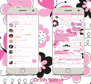 Cute Rosa Theme For YOWhatsApp & Fouad WhatsApp By Driih Santos