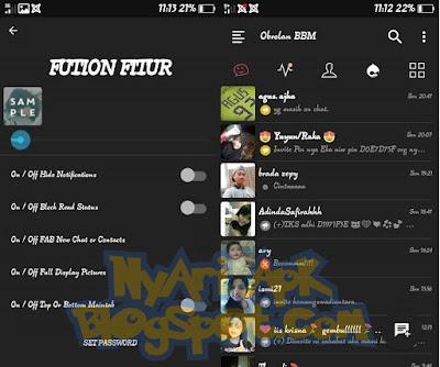 Download BBM Mod Dark Fution Versi 3.0.1.25 Apk Terbaru for Android