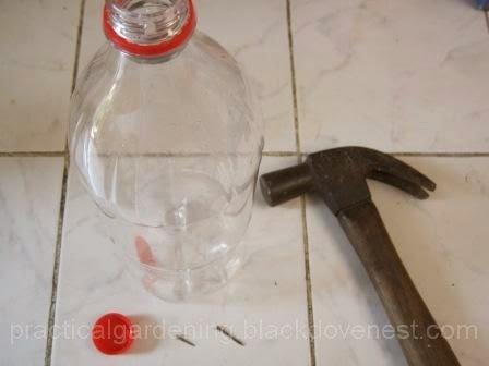Practical Gardening Drip Irrigation Using Soda Pop Plastic