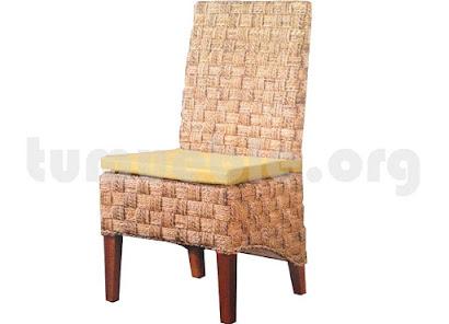 silla comedor en rattan natural j129
