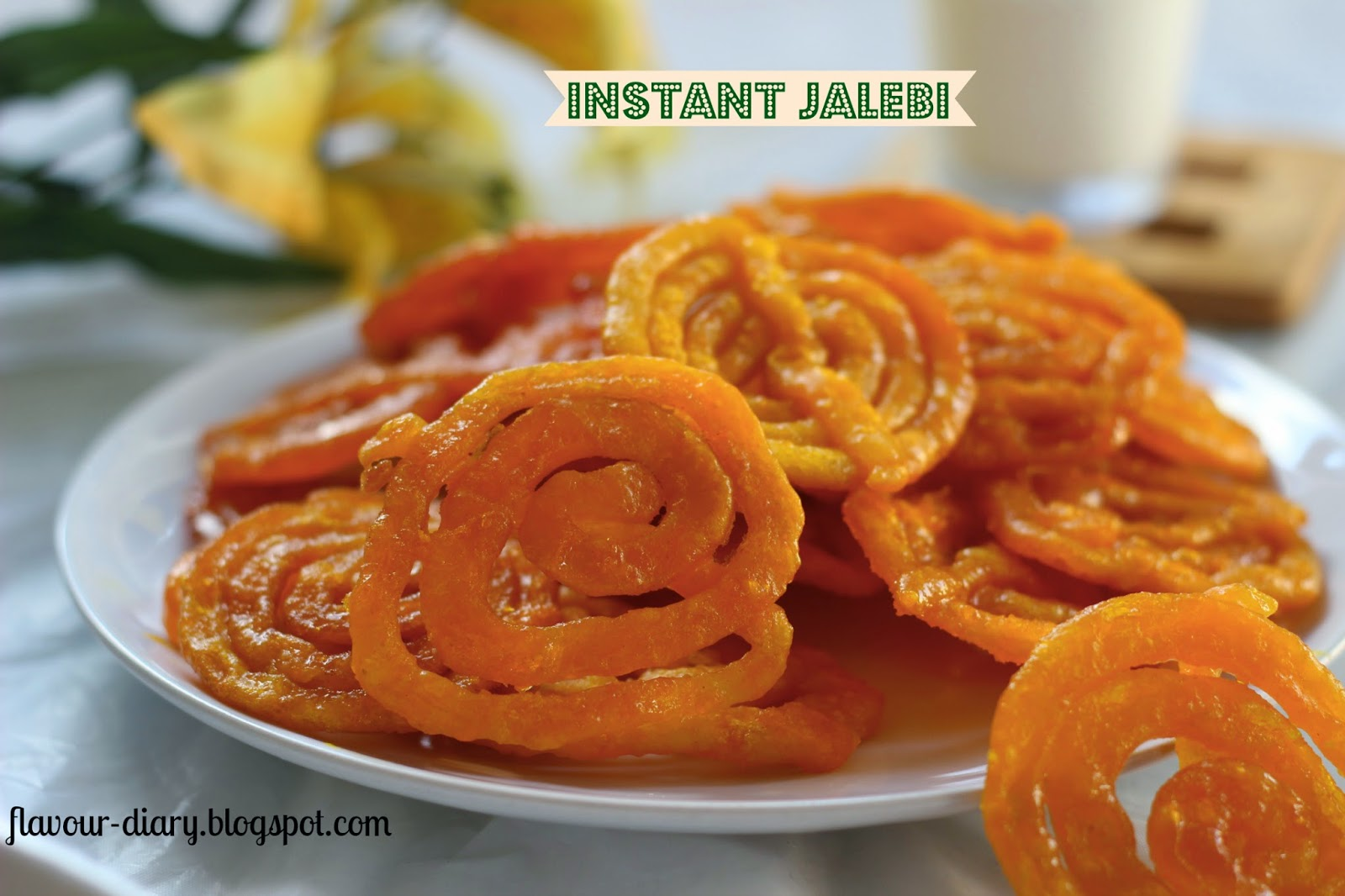 Flavour diary instant jalebi how to make jalebi recipe flavour jalebis are one of the popular indian sweetdessert these are deep fried and soaked in sugar syrup when it is perfectly soaked these spiral tunnels are forumfinder Image collections