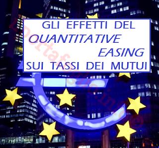 gli effetti del quantitative easing della bce sui tassi di interesse dei mutui