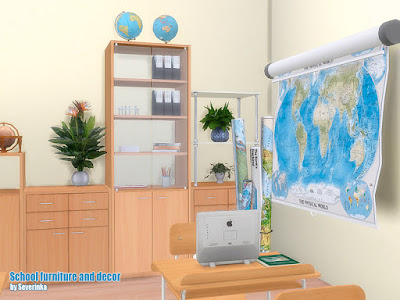 he Sims 4, предметы для The Sims 4, Симс 4, Severinka_, моды для The Sims 4, мебель для The Sims 4, декор для The Sims 4, Severinka_, для Sims 4 школа для Sims 4, школьный кабинет для Sims 4, учительская, колледж, лицей, мебель для школы, школьные столы, парты для Sims 4, декор для школы,