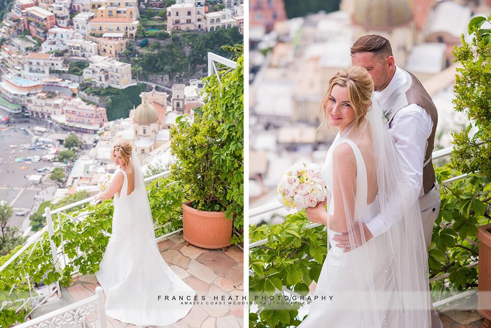 Bride portrait in Villa Oliviero