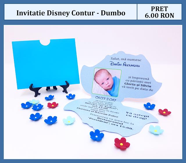 invitatii botez contur Dumbo