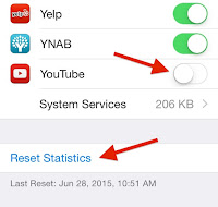 resetting data usage