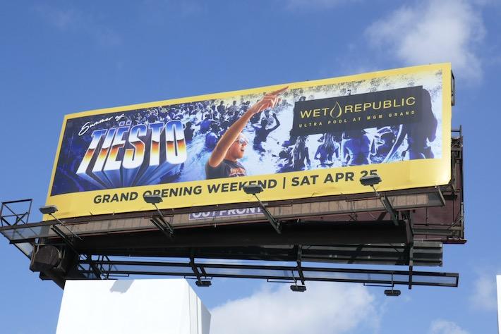 Summer of Tiesto Wet Republic billboard