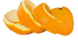 قشر البرتقال لتبييض الاسنان.