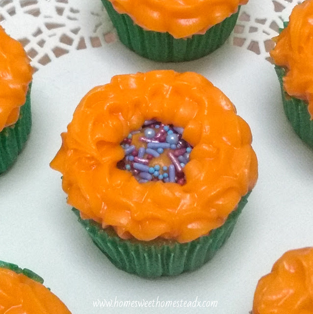 Home Sweet Homestead - Sunflower Cupcakes - Cute Sunflower Cupcakes that are as fun and easy to make, as they are to eat!