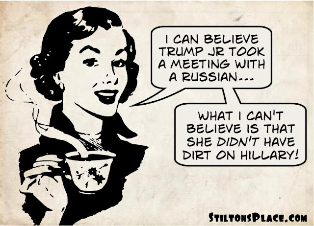 stilton's place, stilton, political, humor, conservative, cartoons, jokes, hope n' change, Trump Jr, Russia, collusion, lawyer, lynch