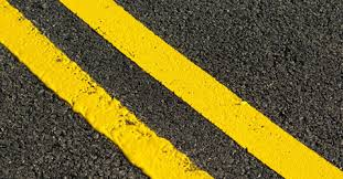 Double yellow lines.