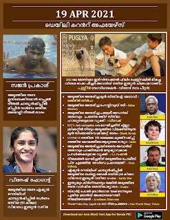 Daily Malayalam Current Affairs 19 Apr 2021