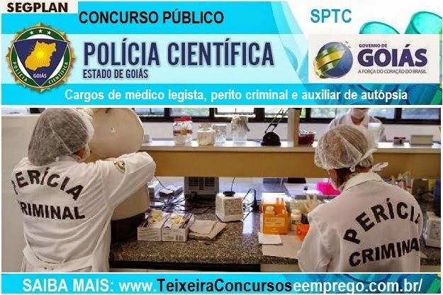 Apostila Concurso SPTC Goiás - Auxiliar de Autópsia de 3ª Classe