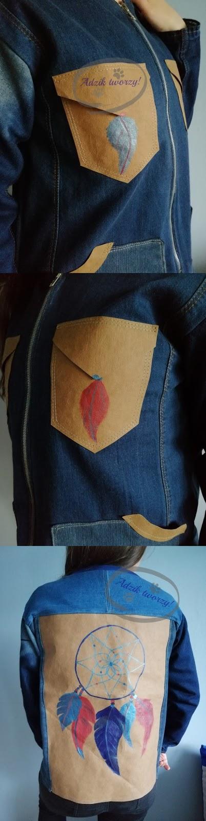 Adzik tworzy - kurtka jeansowa DIY ręcznie malowana