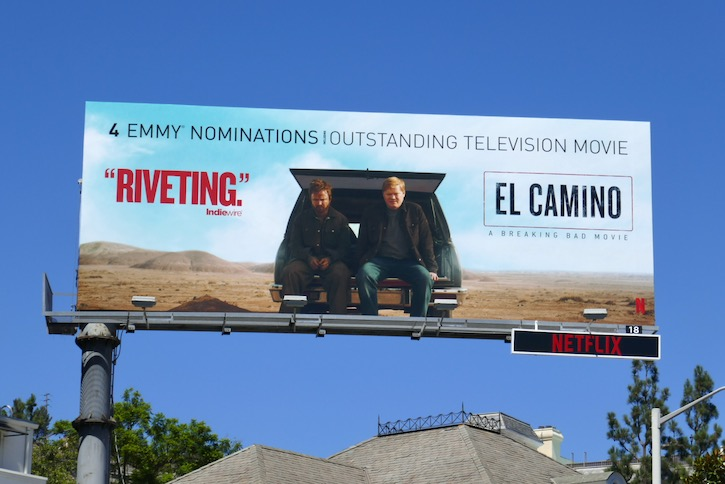 El Camino Emmy nominee billboard