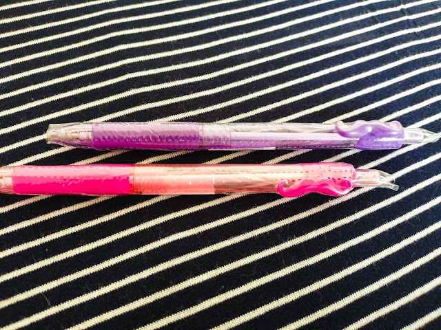 Pink and purple moustache pens from Typo