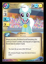 My Little Pony Fleetfoot, Natural Born Winner High Magic CCG Card