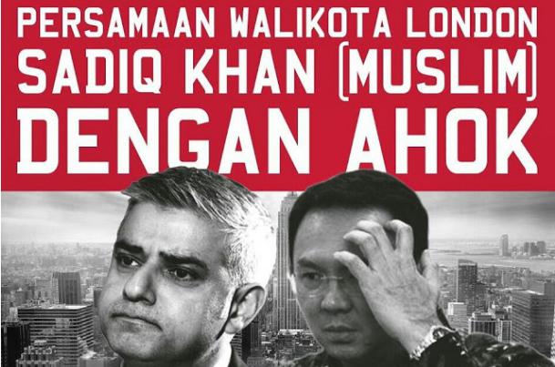 Kesamaan Antara Walikota London Yang Muslim dan Ahok