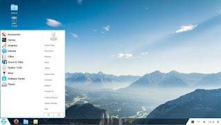 Tampilan Windows 7 pada Zorin OS