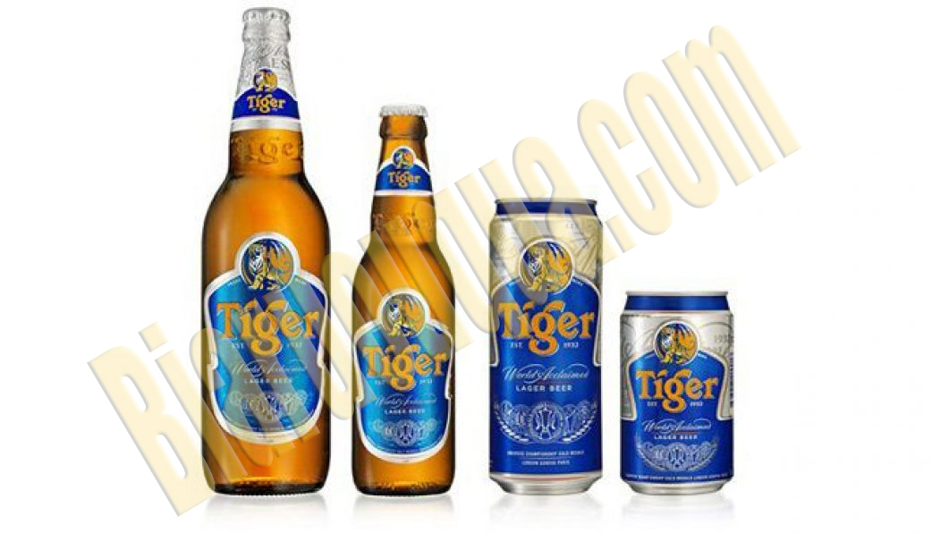Két bia chai Tiger