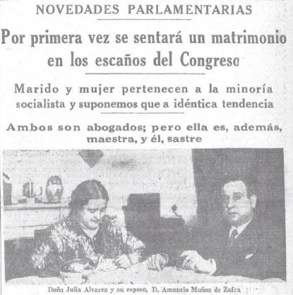 Julia Alvarez Resano y Amancio Muñoz de Zafra